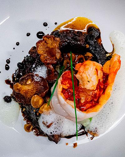menu autour du homard